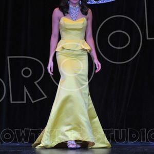 Yellow Jovani Dress - Size 0
